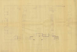[John Wanamaker Display Windows And Parking Garage] Main Floor Plan For  Proposed Automobile Storage Space For John Wanamaker (6/24/1943)