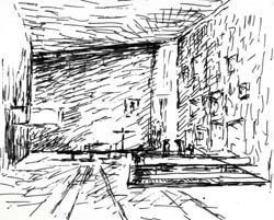 Holding Travel Sketches Philadelphia Architects And