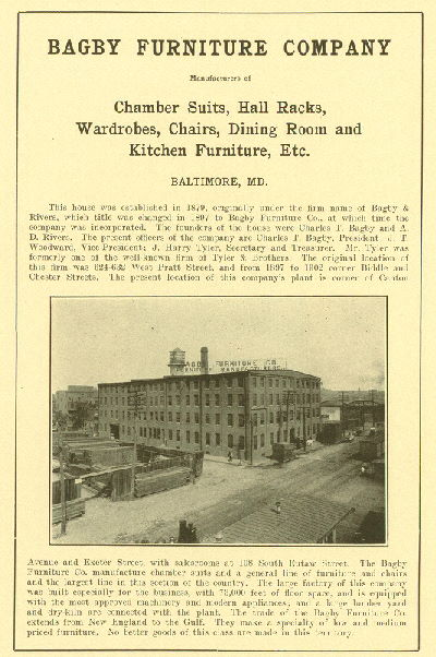 Marvelous Bagby Furniture Co. Factory Local ID #: Blum 206. Blum, Isidor. The Jews Of  Baltimore: An Historical Summary Of Their Progress And Status As Citizens  Of ...